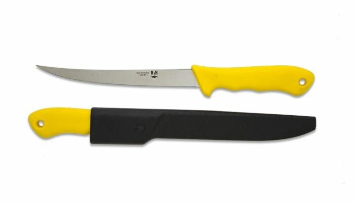 NN-Knives Horgász filézőkés 18 cm-es sárga
